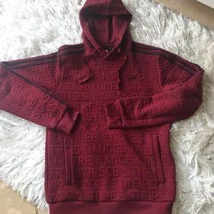 Adidas maroon sweatshirt with hood